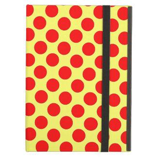 赤い水玉模様の黄色い背景のipadの箱
