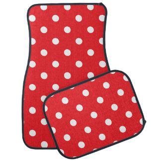 赤い水玉模様 カーマット