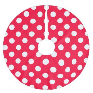 赤い水玉模様 ブラッシュドポリエステルツリースカート
