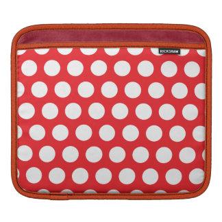 赤い水玉模様 iPadスリーブ
