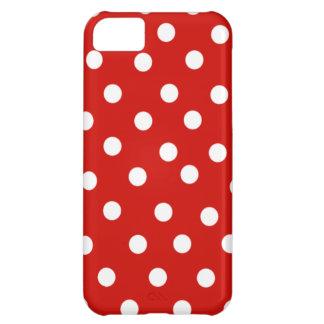 赤い水玉模様 iPhone5Cケース