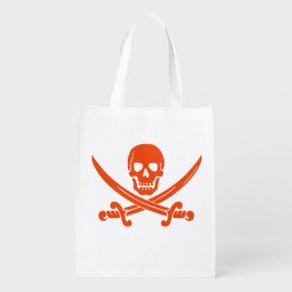 赤い海賊トリック・オア・トリートキャンデーのバッグ エコバッグ