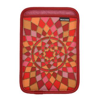 赤い深紅色のピンクの赤いピニャータの曼荼羅 iPad MINIスリーブ