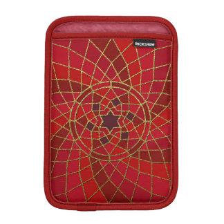 赤い深紅色の唐辛子の豆の唐辛子の豆の渦巻の曼荼羅 iPad MINIスリーブ