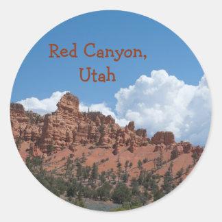 赤い渓谷、ユタのテンプレートの記念品 ラウンドシール