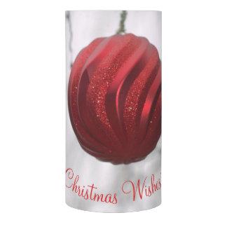 """赤い渦巻のクリスマスのオーナメントLEDの蝋燭3"""" x 6"""" LEDキャンドル"""