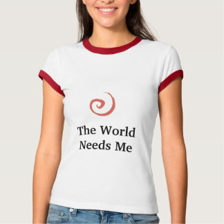 赤い渦巻は、世界私を-カスタマイズ必要とします Tシャツ