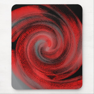 赤い渦巻 マウスパッド