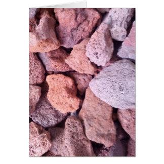 赤い溶岩の石 カード