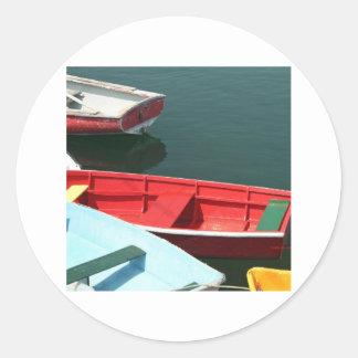 赤い漕艇 ラウンドシール