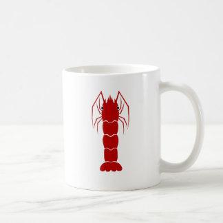 赤い漫画のエビか車海老 コーヒーマグカップ