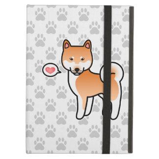 赤い漫画の柴犬愛 iPad AIRケース