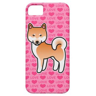 赤い漫画の柴犬愛 iPhone SE/5/5s ケース