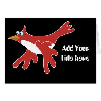 赤い漫画の鳥 カード