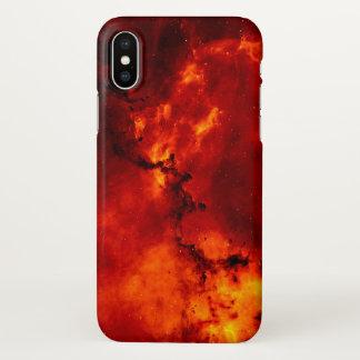 赤い火の銀河系パターンiPhone Xの場合 iPhone X ケース