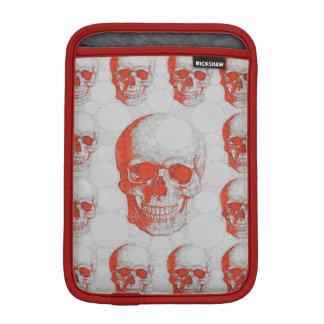 赤い灰色のスカル iPad MINIスリーブ