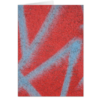 赤い灰色のペンキ カード