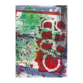 赤い灰色の抽象芸術のMonoprint 170301の芸術のプリント アクリルウォールアート