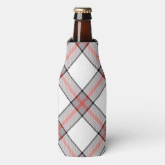 赤い灰色の格子縞 ボトルクーラー