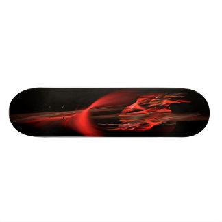赤い炎のスケートボード 21.6CM オールドスクールスケートボードデッキ