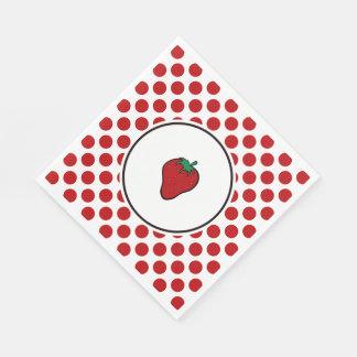 赤い点のいちご スタンダードランチョンナプキン