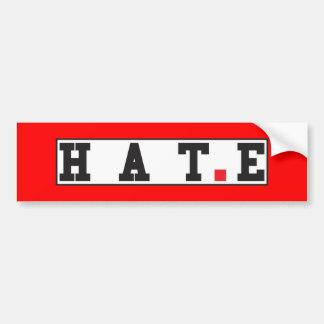 赤い点の正方形を感じるテキストメッセージの感情を憎んで下さい バンパーステッカー