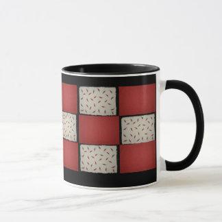 赤い点検のマグ マグカップ