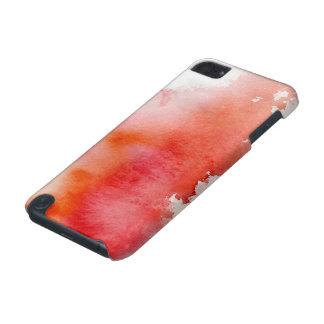 赤い点、水彩画の抽象的な手塗り iPod TOUCH 5G ケース