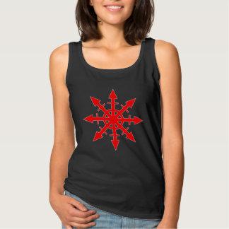 赤い無秩序の星の女性の暗いタンクトップ タンクトップ