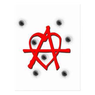 赤い無秩序の記号 ポストカード