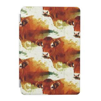 赤い牛絵画 iPad MINIカバー