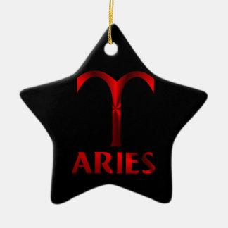 赤い牡羊座の占星術の記号 セラミックオーナメント