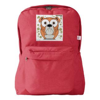 赤い犬の(オレンジ)バックパック AMERICAN APPAREL™バックパック