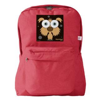 赤い犬(ブラウン)のバックパック AMERICAN APPAREL™バックパック