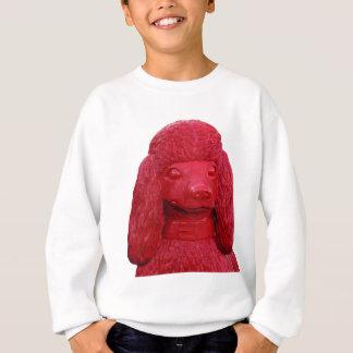 赤い犬-プードル スウェットシャツ