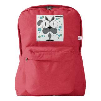 赤い猫の(灰色の)バックパック AMERICAN APPAREL™バックパック
