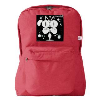 赤い猫の(白い)バックパック AMERICAN APPAREL™バックパック