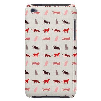 赤い猫パターン Case-Mate iPod TOUCH ケース