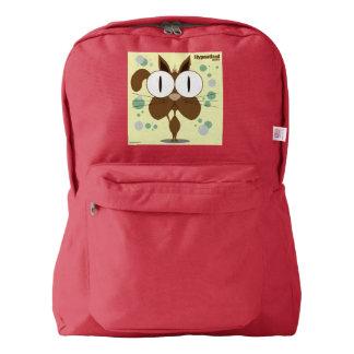 赤い猫(ブラウン)のバックパック AMERICAN APPAREL™バックパック