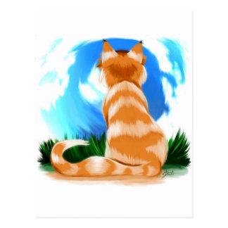 赤い猫 ポストカード