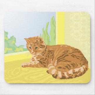 赤い猫 マウスパッド