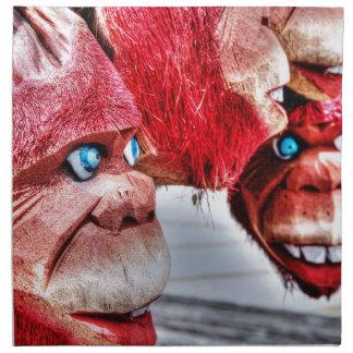 赤い猿 ナプキンクロス