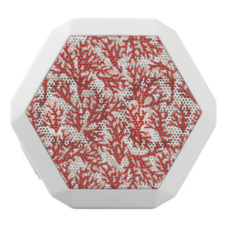 赤い珊瑚パターン2 ホワイトBluetoothスピーカー