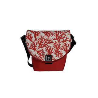 赤い珊瑚パターン2 メッセンジャーバッグ