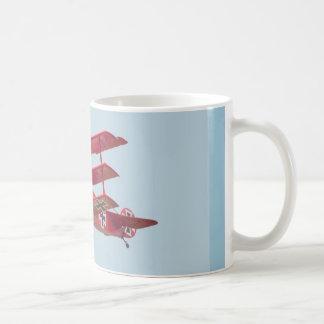 赤い男爵の三葉機 コーヒーマグカップ