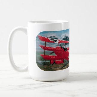 赤い男爵の第1次世界大戦の三葉機 コーヒーマグカップ
