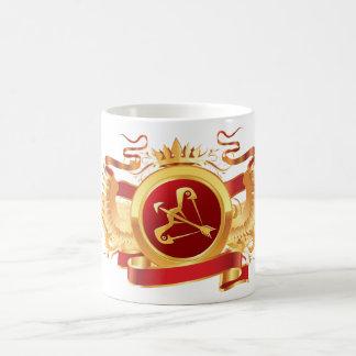 """赤い男爵""""(占星術の)十二宮図射手座""""のクラシックで白いマグ コーヒーマグカップ"""