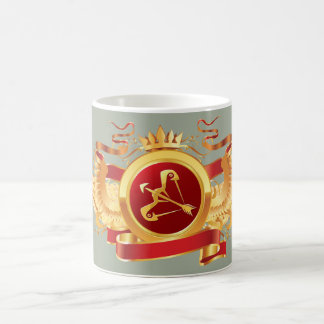 """赤い男爵""""(占星術の)十二宮図射手座""""の変形させるマグ モーフィングマグカップ"""