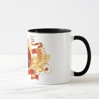 """赤い男爵""""(占星術の)十二宮図射手座""""の黒の信号器のマグ マグカップ"""