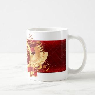 """赤い男爵""""(占星術の)十二宮図山羊座""""の11のozのクラシックな白M コーヒーマグカップ"""